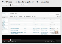 How to work with tags, keywords and catagories wordpress