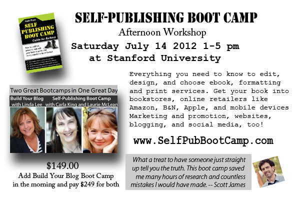 Self Publishing and WordPress Bootcamps Live